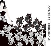 vector illustration of elegant  ... | Shutterstock .eps vector #81487600