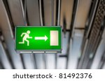 Illuminated Green Exit Sign...
