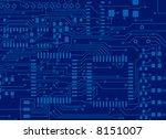 blue circuit board background | Shutterstock . vector #8151007