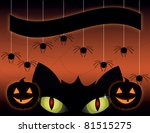 black cat on a halloween | Shutterstock .eps vector #81515275