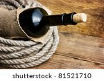bottle wrapped with rope... | Shutterstock . vector #81521710