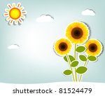 Stylized Vector Sunflower On...
