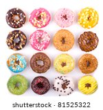 colorful delicious donuts... | Shutterstock . vector #81525322