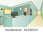 vision of a hospital empty  we... | Shutterstock . vector #81530215