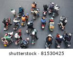 bangkok   jan 13  motorcyclists ... | Shutterstock . vector #81530425
