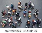 bangkok   jan 13  motorcyclists ... | Shutterstock . vector #81530425
