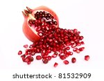 Pomegranate On A White...