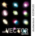 set of vector glowing special... | Shutterstock .eps vector #81534133