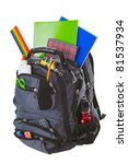 backpack full of school... | Shutterstock . vector #81537934