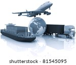 types of transport of... | Shutterstock . vector #81545095