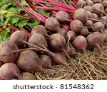 amount of beetroots lying one... | Shutterstock . vector #81548362