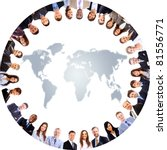 group of people around a world... | Shutterstock . vector #81556771