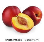 Nectarines With Half Isolated...