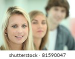 teenagers smiling | Shutterstock . vector #81590047