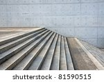 granite stairs and a concrete... | Shutterstock . vector #81590515