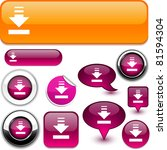 download vector glossy icons. | Shutterstock .eps vector #81594304