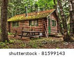 Log Cabin Surrounded By The...