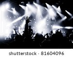 crowd cheering at a live music... | Shutterstock . vector #81604096