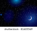 stella space landscape with... | Shutterstock .eps vector #81605569