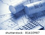 part of architectural project | Shutterstock . vector #81610987
