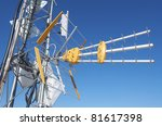 foreground of a tv  antenna for ...