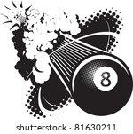sonic boom eight ball   Shutterstock .eps vector #81630211