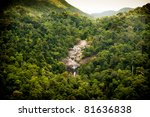 amazing waterfall revealed... | Shutterstock . vector #81636838