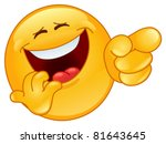 laughing and pointing emoticon | Shutterstock .eps vector #81643645