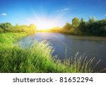 River And Spring Forest. Natur...