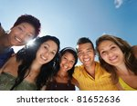 Multiethnic Group Of Five Male...