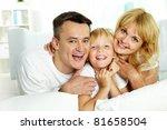 portrait of happy parents with...   Shutterstock . vector #81658504