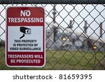 A No Trespassing Sign On A...