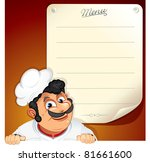 background with smiling chef... | Shutterstock . vector #81661600