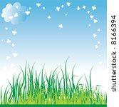 spring grass background. vector ... | Shutterstock .eps vector #8166394