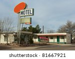 usa  old motel at scenic route... | Shutterstock . vector #81667921