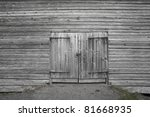 Dorr On Old Gray Wooden Barn