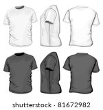 vector. men's t shirt design... | Shutterstock .eps vector #81672982