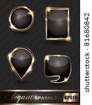 vector set of elegant sparkling ... | Shutterstock .eps vector #81680842