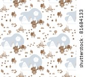 square bear seamless pattern... | Shutterstock .eps vector #81684133