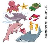 vector illustration  marine... | Shutterstock .eps vector #81684241