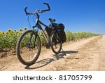 touristic bicycle on a road | Shutterstock . vector #81705799