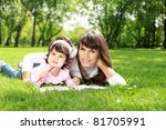 mother with her daughter... | Shutterstock . vector #81705991