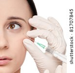 cosmetic injection in the... | Shutterstock . vector #81707845