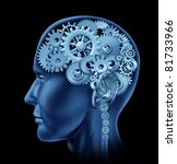 Brain Sections Made Of Cogs An...