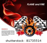 racing poster with flames of... | Shutterstock .eps vector #81735514