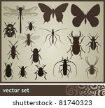 Insect set - stock vector