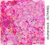 grunge bubbles background   Shutterstock .eps vector #81744481