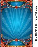 Blue circus background - stock photo
