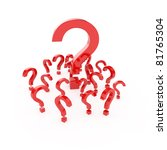 3d render of question points on ... | Shutterstock . vector #81765304