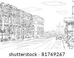 urban doodle sketch. vector | Shutterstock .eps vector #81769267